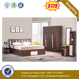 Hot Sell Modern Bedroom Furniture Melamine Laminated Queen Bed