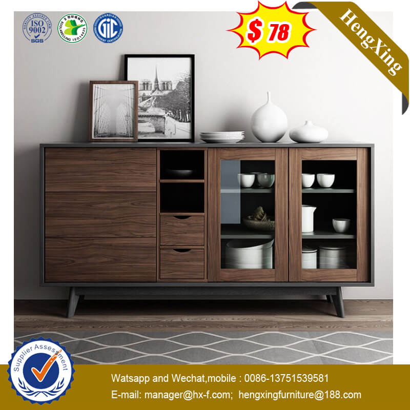 Modern Minimalist Nordic Style Solid Wood Furniture Sideboard