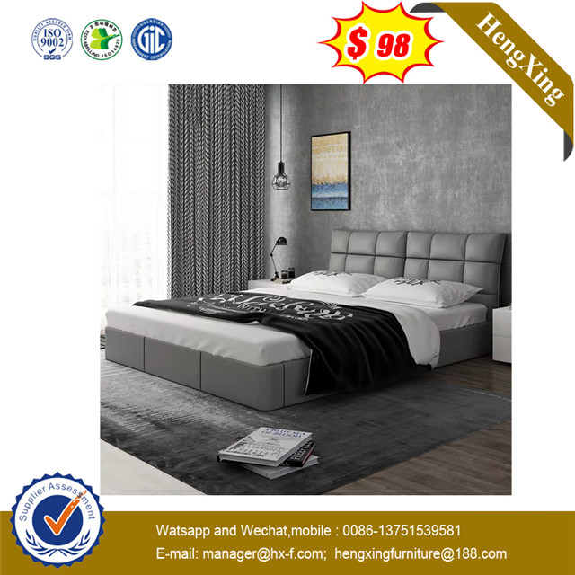 Fashion MDF Wooden Double size Water Proof Project furniture wooden hotel bed