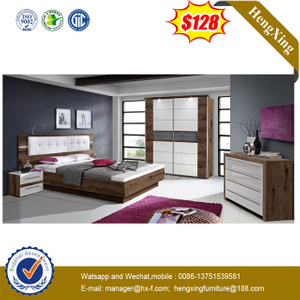 Modern Wooden Home Hetel Bedroom Living Room Furniture Double King Bed