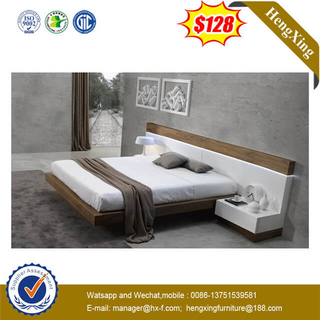 White Wooden Hotel Home King Size Bedroom Furniture Bed With Headboard