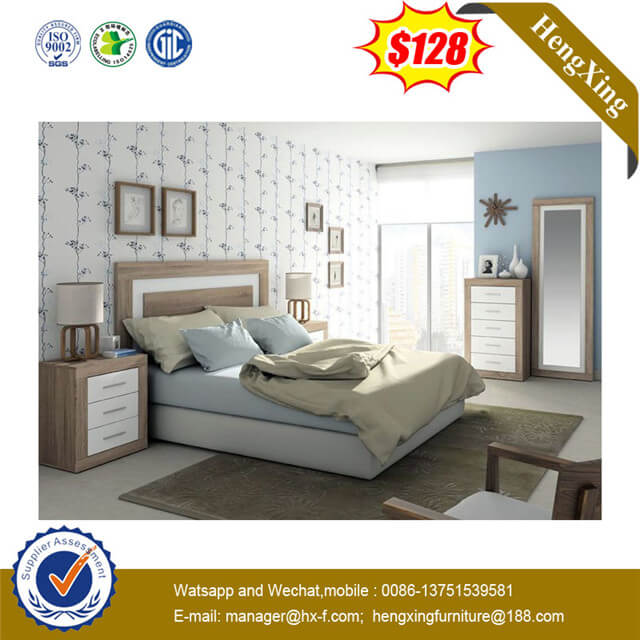 Modern New Design Wooden Bedroom Hotel Home Furniture Sofa Soft Bed