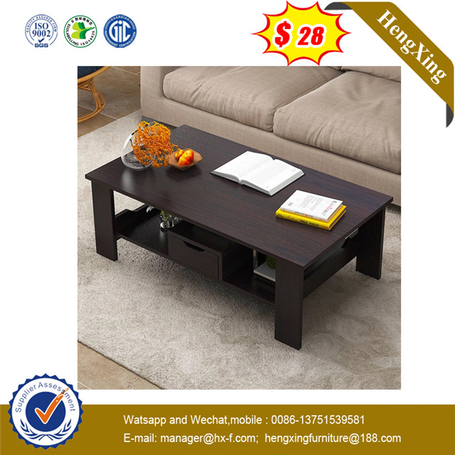 Black Color Wooden Office Home Living Room Coffee Table