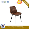 Leather Dining Chair with Foam and Aluminum Base
