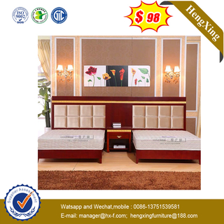 Modern MDF Melamine Living Room Hotel Bed with Wooden Frame