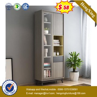 Modern Combination Bookshelf Double Door Bookcase 2 Door Storage Locker