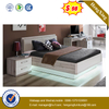 Black Oak Wooden Home Bedroom Furniture Light Customized Side Drawers Daily Use Bed