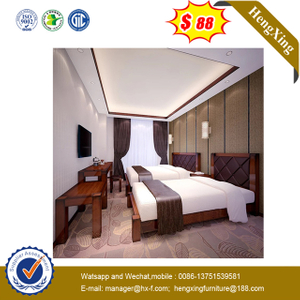 Modern Double Bed Home Hotel Bedroom Furniture Sets Bed with Backrest