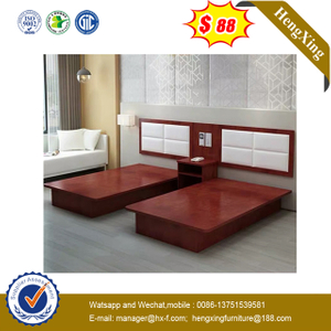 Luxury Wooden King Double Single Size PU Headboard Bed Hotel Room furniture