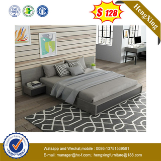 Cheap Price MDF Fashion Wooden Double Room Hotel Furniture Bed