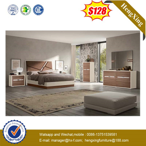 Classic Wooden MDF Bedroom Furniture Queen Size Children Bed