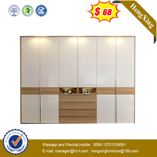 Good Price Wardrobe White Paint Glass Large Bedroom Furniture Closet