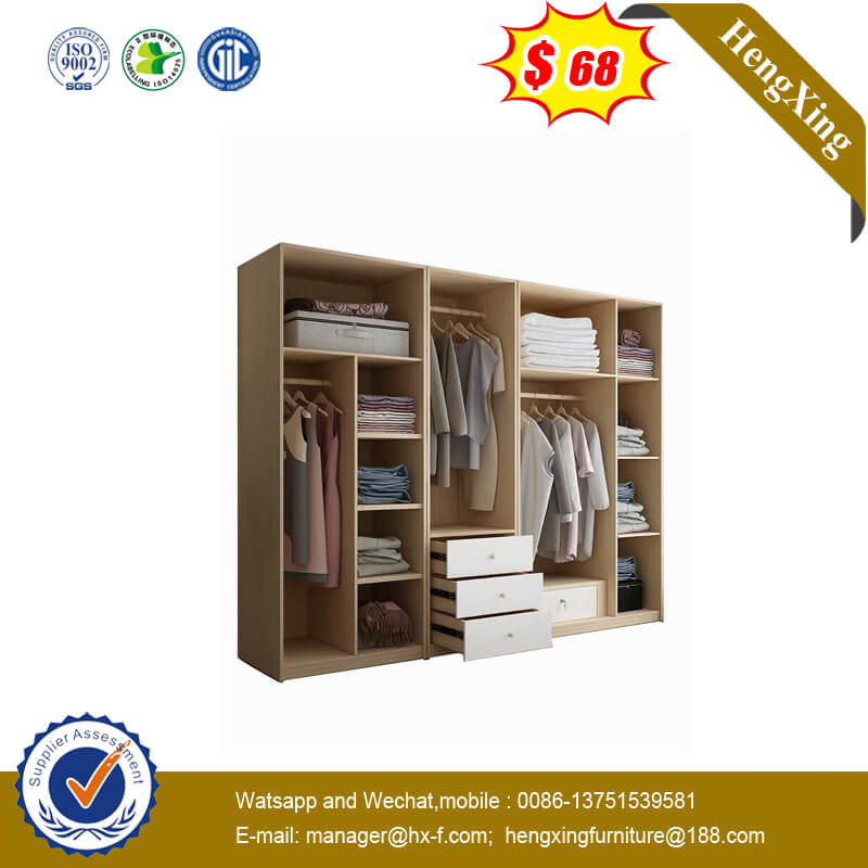 Morden Simplicity Bedroom Furniture Set Wooden Wardrobe Closet with Mirror