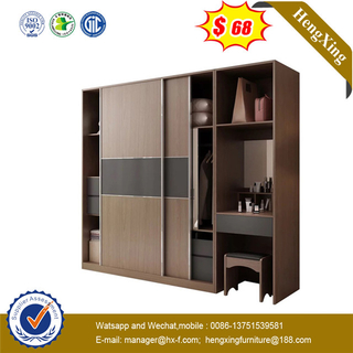 Good products finish Good Service 2 doors Imported metal hardware sliding door closet