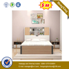 Economic Cheap Price High Quality Storage Home Use Bedroom Furniture Solid Bed With BookShelf