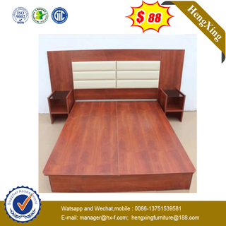 Chinese Fashion Wooden Home Hotel Living Room Modern Bedroom Furniture Double Beds