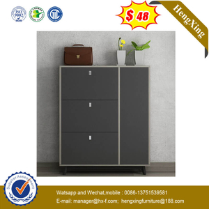 Modern Design Wood Drawer Shoe Storage Cabinet Living Room Furniture Set