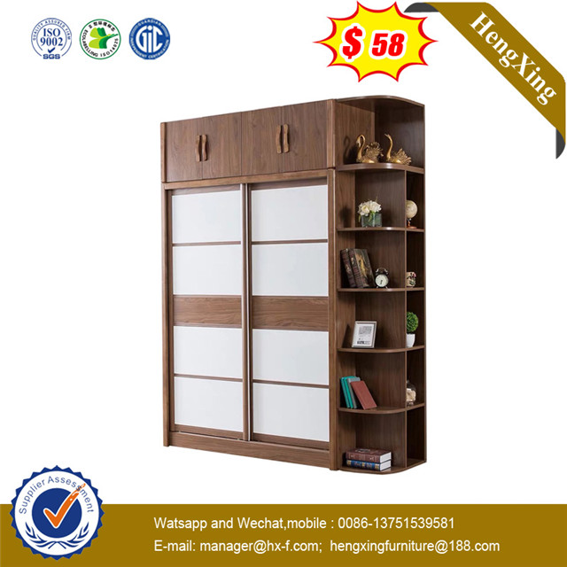 New design 2 doors Frosted Glass Imported metal hardware furniture closet