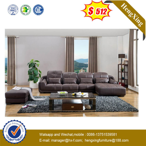 Popular Modern Living Room Leisure Classic Design Vintage Leather Sectional Sofa Set
