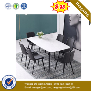 Luxury Gold Stainless Steel Mirrored Tempered Glass Top Dining Table Furniture set
