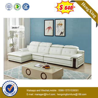 Chaise Pillow Sectional Leather Classic Design Furniture Sofa With Coffee Table For Home