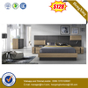 New Color Design Unique Living Room Furniture Black Wooden Bed Bedroom Set