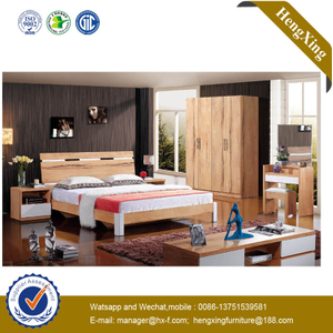 2020 China Foshan Wooden Living Bedroom Furniture Double Bed