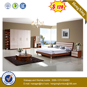 Modern Bedroom Queen Size Bed Home Furniture With Metal Leg