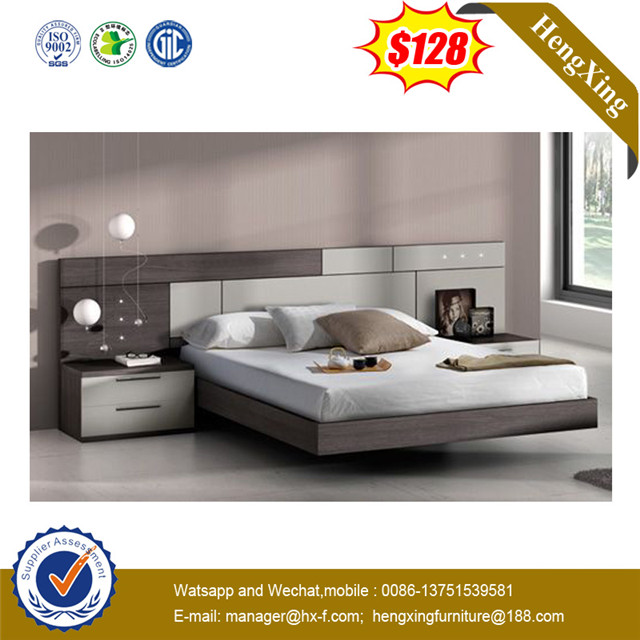 Modern Home Hotel Wooden MDF Bedroom Set Queen Double Beds