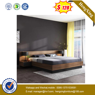 Hot Sell Latest Design Wood King Size Home Furniture Double Bed