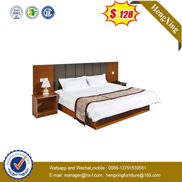 Wooden Frame Hotel Apartment Furniture High Box Pneumatic Storeable Small Size Bed