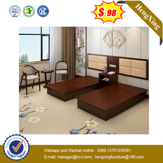 American Wooden Apartment Bedroom Furniture Solid Wood Double Bed