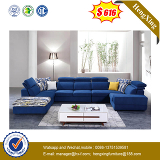 Foshan Home Furniture U Shape Couch Lounger Sleeper Fabric Sofa Set