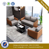 Wooden modern home living room furniture set 1+1+3 Leather sofa set
