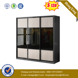 Light Luxury Bedroom Furniture Sliding Door Wardrobe Glass Door Cubicle Receives Large Wardrobe