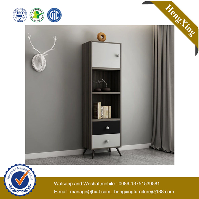 wooden Dark Grey Side High Cabinets Dining Room Furniture Storage Kitchen Cupboard