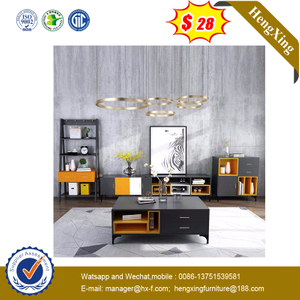 Modern Furniture Living Room Central Wooden Tea Coffee Table Side Tables