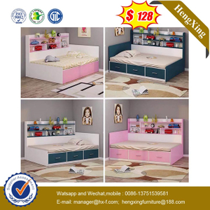 Modern Wooden Dormitory Kids Bunk Children Bedroom baby Furniture Double Single Bed
