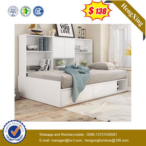 White Wood factory home Kids Bookcase Children Bunk single baby Bed Bedroom Furniture Set