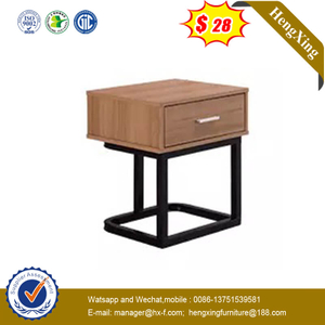 Top Sale Metal Frame Side Table Simple Design Living Bedside Table With Drawer