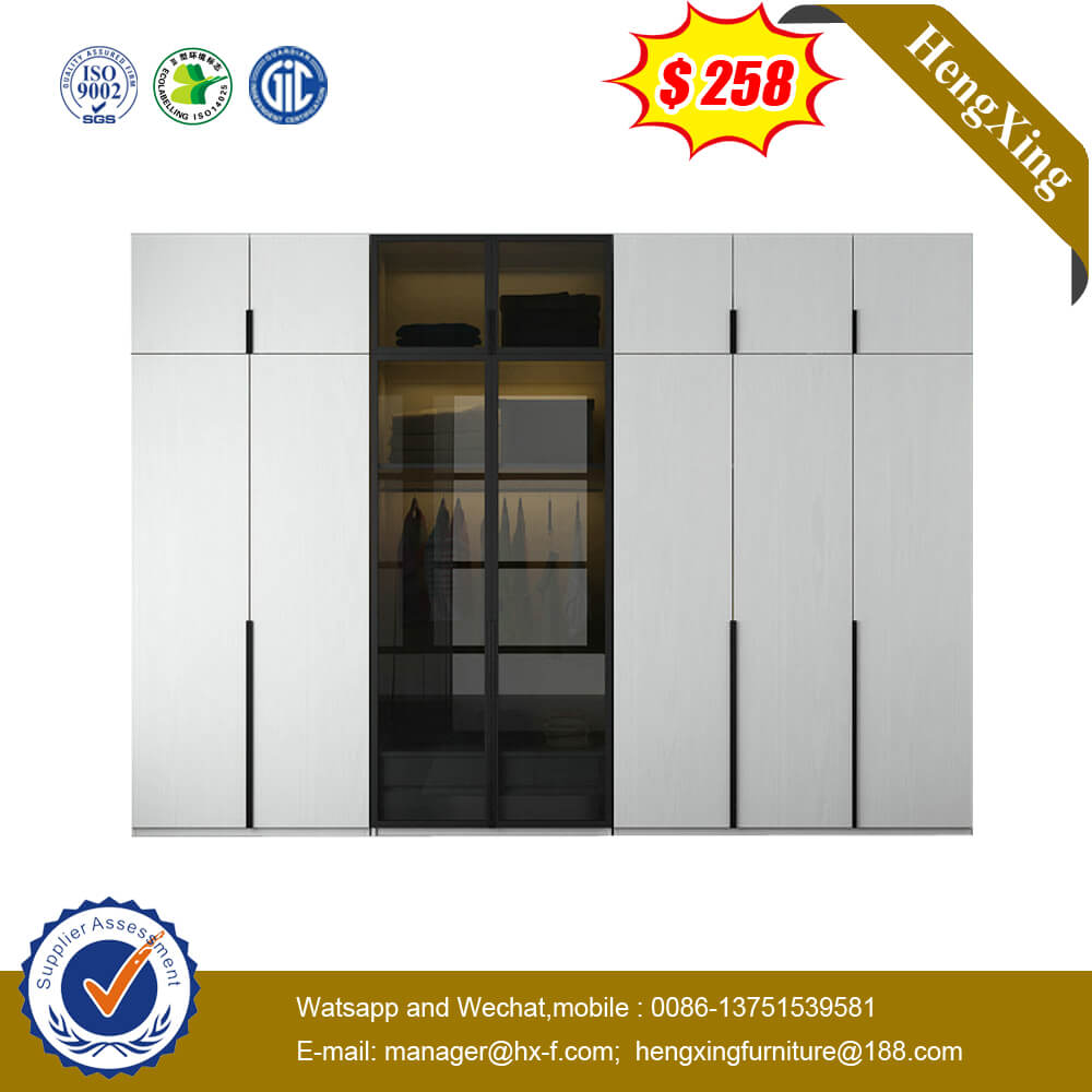 Modern Glass Door Bookcase Cabinet Office Furniture Particle Board Wardrobe