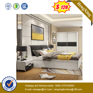 Wooden Bedroom Furniture living room Mattress wardrobe Wall King Queen Size Storage wood frame Bed