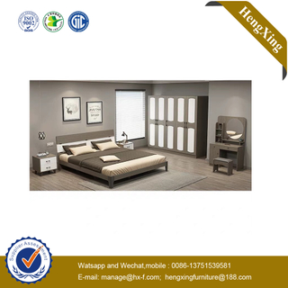 Hotel Furniture Home Bedroom Furniture Double Size Wood Folding Adult Beds