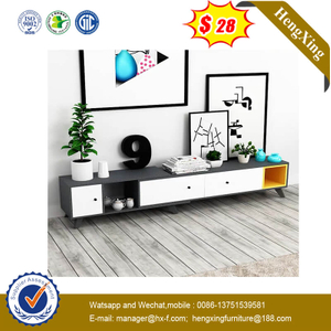 Durable Home Hotel Livingroom Melamine Wooden TV Stand Cabinet Furniture