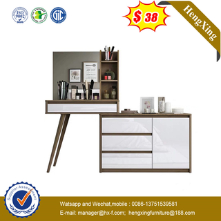 Wood Bedroom Furniture Computer Desk Makeup Vanity Mirror Dressing Table with Mirror