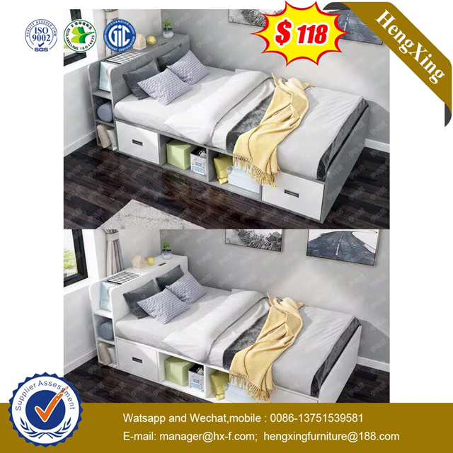 Modern Children Wooden Sets Hotel Bedroom Home Furniture set wardrobe Single Kids Size Beds