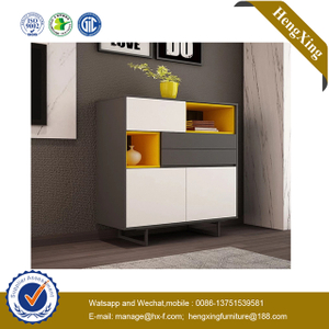 Chinese factory Wooden Home Furniture Drawer Table Storage kitchen cupboard beside Living Room Cabinet