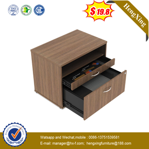 Wood Filing Big Storage 3 Drawer Under Desk Movable Cabinet with Wheels