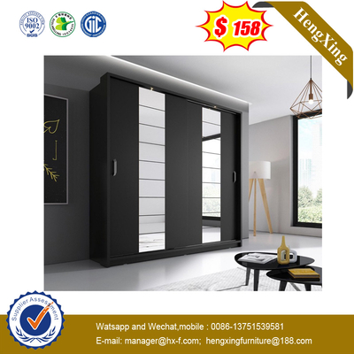 Customized Mirror Sliding Door Bedroom Closet Wooden Bedroom Wardrobe
