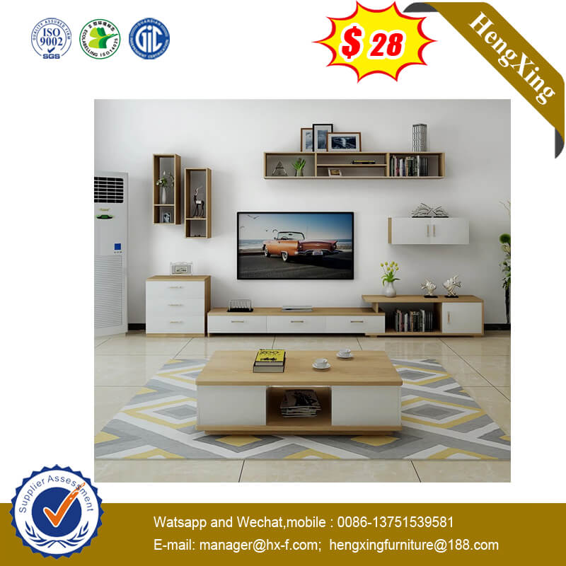 Fashion Bedroom TV Cabinet Rectangular Retro Small Apartment Coffee Table